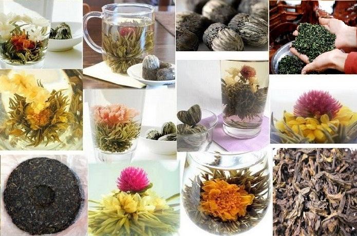 Пуэр, Те Гуань Инь, Да Хун Пао, Связанный чай
